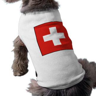 Swiss Flag Dog Shirt