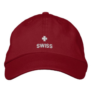 Swiss Flag embroidered hat
