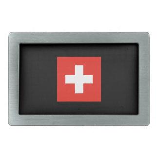 Swiss Flag - Flag of Switzerland Belt Buckle