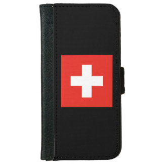 Swiss Flag - Flag of Switzerland Wallet Phone Case For iPhone 6/6s