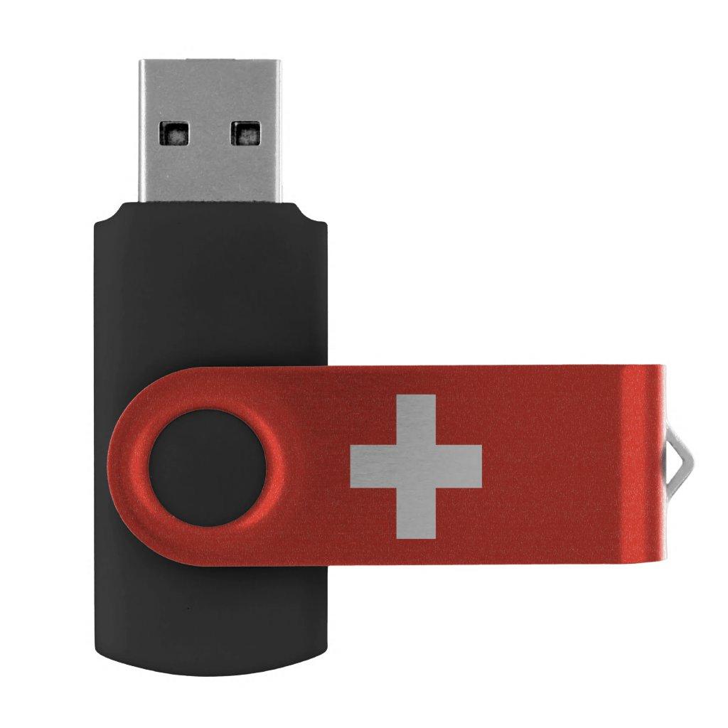 Swiss flag flash drive