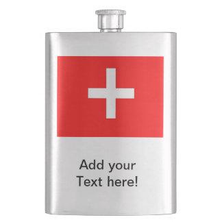 Swiss Flag Hip Flask