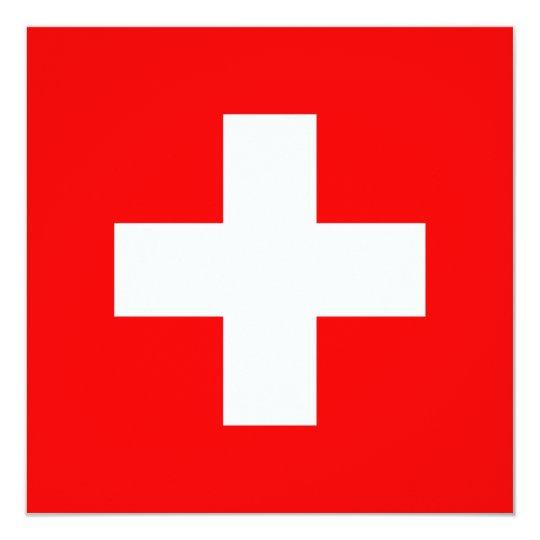 Swiss Flag I Love Switzerland Red and White Card
