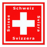 Swiss Flag Invitation to a Swiss Theme Event