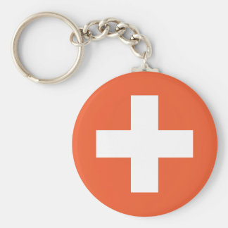 Swiss Flag Key Chains