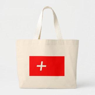 swiss-Flag Large Tote Bag