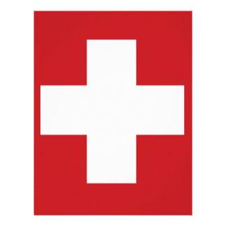 Swiss Flag Letterhead