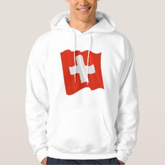 Swiss Flag Mens Hoodie
