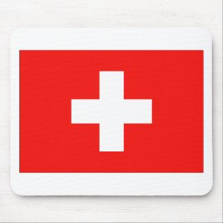 Swiss Flag Mouse Pad