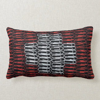 Swiss Flag of Paperclips Throw Pillow