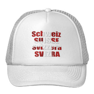 Swiss Flag of Switzerland Official languages Gift Mesh Hats