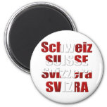 Swiss Flag of Switzerland Official languages Gift Magnet