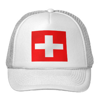 Swiss flag of Switzerland Suisse Svizra gifts Hats