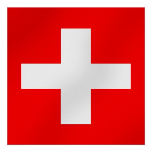 Swiss flag of Switzerland Suisse Svizra gifts Poster