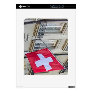 Swiss Flag - Old City of Bern - Switzerland iPad Skins