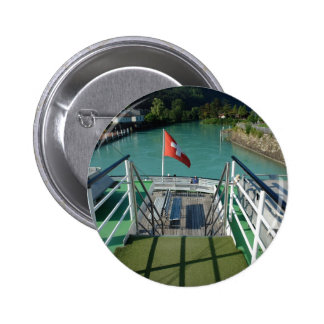 Swiss flag on a boat pinback buttons