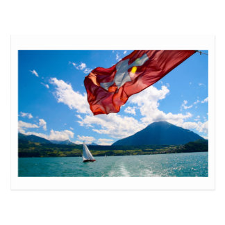 swiss flag postcard