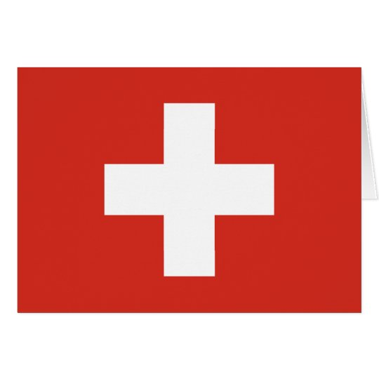Swiss Flag Red Cross Card