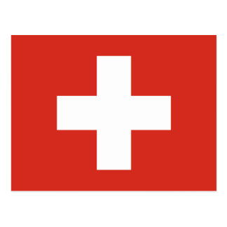 Swiss Flag Red Cross Postcard