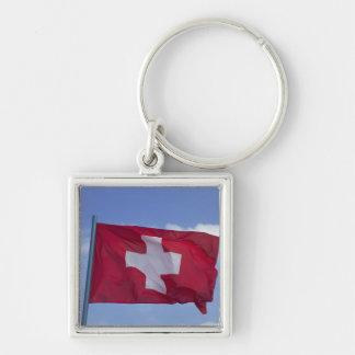 Swiss Flag RF) Keychain