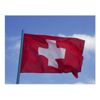 Swiss Flag RF) Postcard