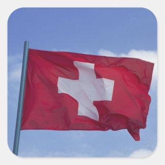 Swiss Flag RF) Square Sticker