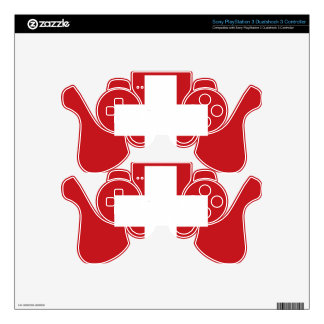 Swiss Flag Skins For PS3 Controllers