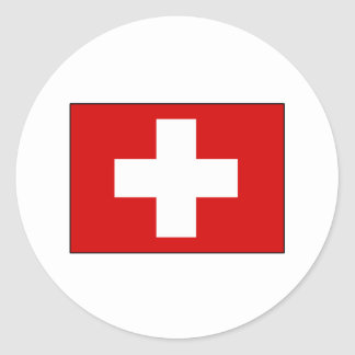 Swiss Flag T-shirts and Gifts Classic Round Sticker