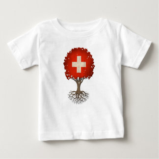 Swiss Flag Tree of Life Customizable Tee Shirt