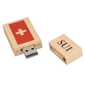 Swiss flag USB pendrive flash drive   Switzerland Wood USB 2.0 Flash Drive