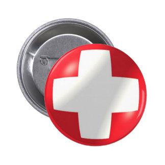 Swiss Flag With Bubble Button