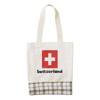 Swiss Flag Zazzle HEART Tote Bag