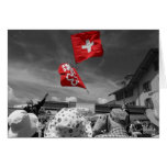 Swiss flags card