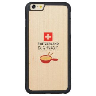 Swiss Fondue Funny Carved Maple iPhone 6 Plus Bumper Case