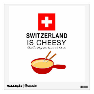 Swiss Fondue Funny Wall Decal