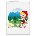 Swiss girl greeting card