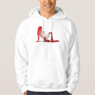 Swiss Girl Silhouette Flag Hooded Sweatshirts