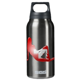Swiss Girl Silhouette Flag Insulated Water Bottle