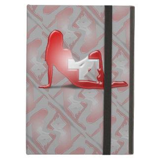 Swiss Girl Silhouette Flag iPad Air Case