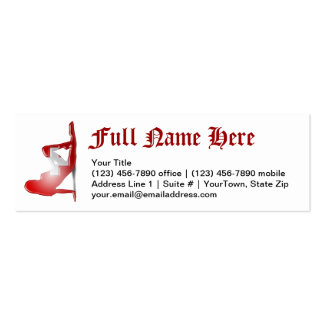 Swiss Girl Silhouette Flag Mini Business Card