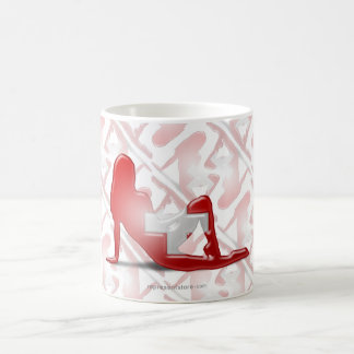Swiss Girl Silhouette Flag Coffee Mug