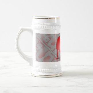 Swiss Girl Silhouette Flag Coffee Mugs