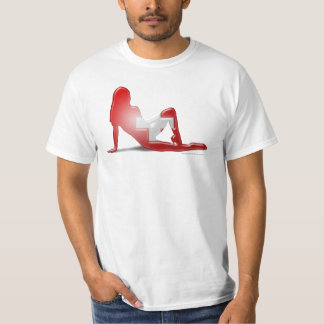 Swiss Girl Silhouette Flag T-Shirt
