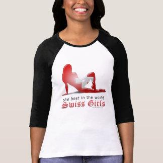 Swiss Girl Silhouette Flag T-Shirt