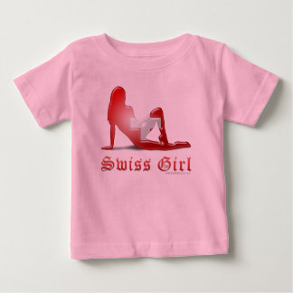 Swiss Girl Silhouette Flag Shirt