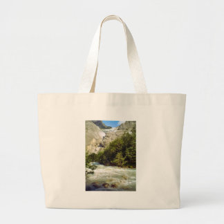 Swiss glacier and meltwater river canvas bags
