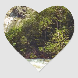 Swiss glacier and meltwater river heart sticker