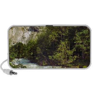 Swiss glacier and meltwater river laptop speaker