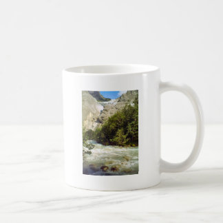 Swiss glacier and meltwater river classic white coffee mug