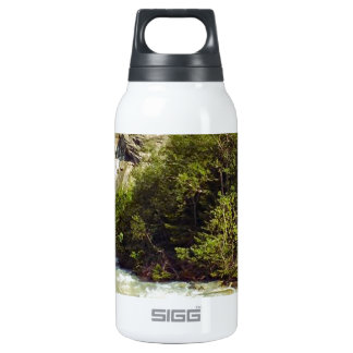 Swiss glacier and meltwater river 10 oz insulated SIGG thermos water bottle